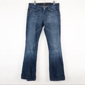 7FAM (28x28) Bootcut Dark Wash Low Rise Jeans